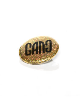 Badge gang doré à paillettes